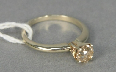 14 karat yellow gold and diamond engagement ring set