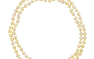 14k Gold Diamond Sapphire Pearl Long Toggle Necklace