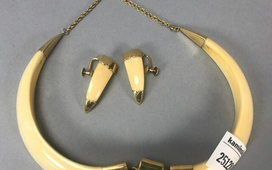 14k Gold and Horn Necklace