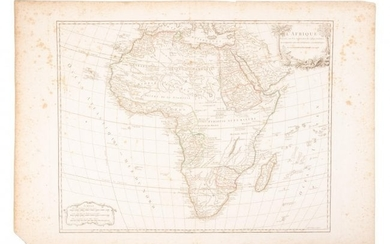 18th c. map of Africa showing known kingdoms