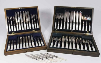 2 Boxed Fish Sets With Sterling Bands