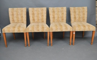 4 Leopard Print Side Chairs