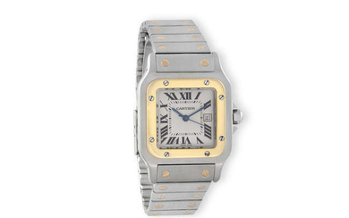 Description A STAINLESS STEEL AND 18K GOLD AUTOMATIC CALENDAR...