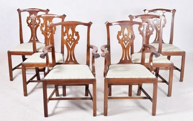 (6) Chippendale Style DR Chairs