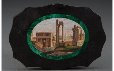 61001: An Italian Micro Mosaic Paper Weight Depicting a