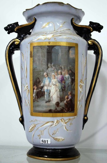 A 19TH CENTURY FRENCH PORCELAIN VASE