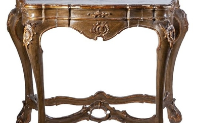 A Charles III of Spain carved giltwood console...