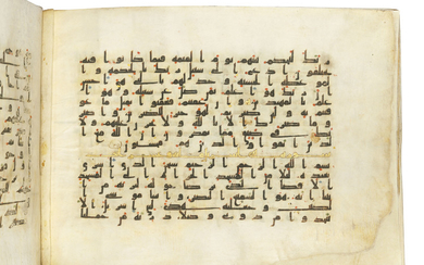 A KUFIC QUR'AN SECTION, NORTH AFRICA OR NEAR EAST, CIRCA 9TH CENTURY