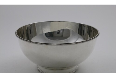 A LATE VICTORIAN HEMISPHERICAL PUNCH BOWL on a collet foot w...