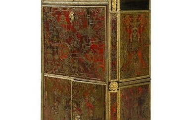 A Louis XIV Style Boulle Marquetry Marble-Top