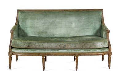 A Louis XVI Painted Settee