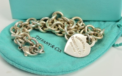 A TIFFANY & CO NECKLACE, designed as a belcher link chain su...