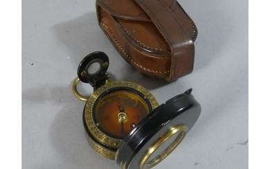 A WWI Leather Cased Barkers Patent Military Handheld Prismat...