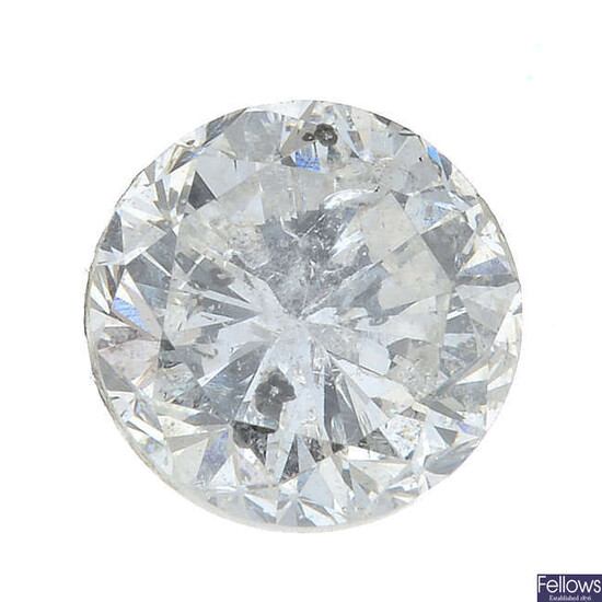 A brilliant-cut diamond, weighing 1.04cts.