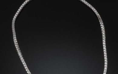 A diamond necklace - app. 13.76 ct.