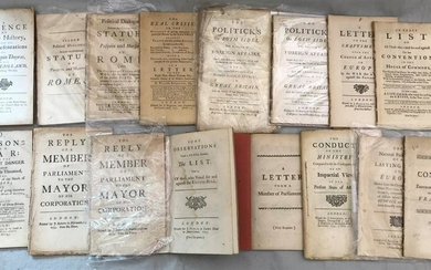 A group of 18th century political pamphlets