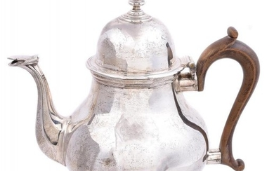 A silver baluster tea pot by Tessiers