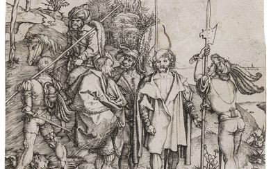 Albrecht Dürer (1471-1528) Five Soldiers and a Turk on Horseback