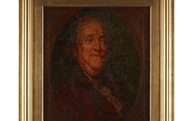 American School 19th century Portrait of Benjamin Franklin (1705-1790)...