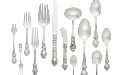An American sterling silver assembled partial flatware service