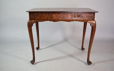 An Early 19th Century Dutch Marquetry Table with Vase and Fl...