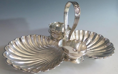 An Electroplated Silver Strawberry Dish