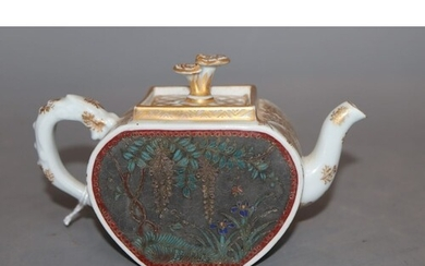 An early 20th century Japanese ceramic and cloisonne teapot ...