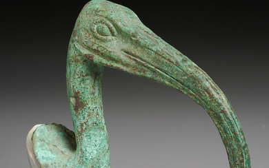 Ancient Egyptian bronze Ibis, ex-Mathias Komor