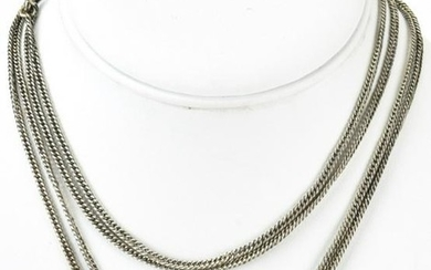 Antique 19th C English Sterling Slide Necklace