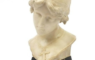 Aristide Petrilli, white marble carving titled