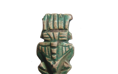Attractive steatite amulet of Bes, Ptolemaic Period