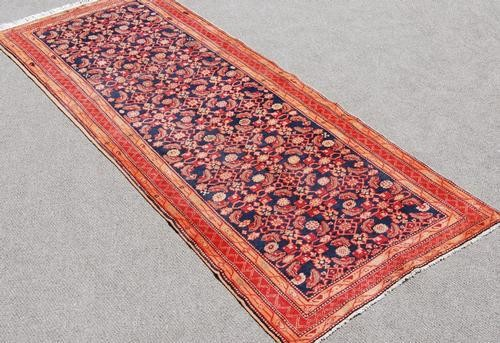 Beautiful Semi Antique Persian Nahavand Runner 10.6x4.5