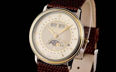 Blancpain - Villeret Gold/Steel Triple Date Moonphase - Men - 1990-1999
