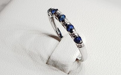Bliss - 18 kt. White gold - Ring Sapphire - Diamonds