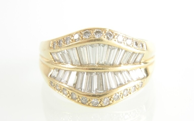 Brillant-Damenring zus. ca. 1,20 ct
