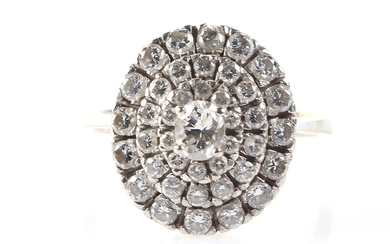Brillant Diamant Damenring zus. ca. 1,00 ct