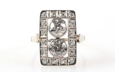 Brillant/Diamant Damenring zus. ca. 1,30 ct