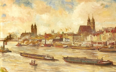 Bruno Hein, German painter early 20th century, view...