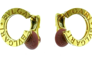 Bvlgari 18k Yellow Gold Half Hoop Clip On Earrings