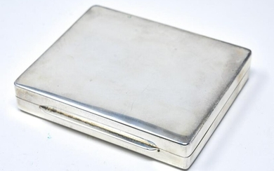 C 1950s Cartier Sterling Silver Cigarette Case