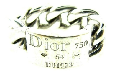 CHIC Christian Dior 18k White Gold Link Ring