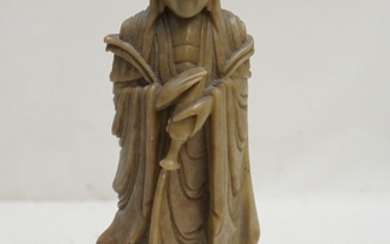 CHINESE CARVED SHOUSHAN GUANYIN