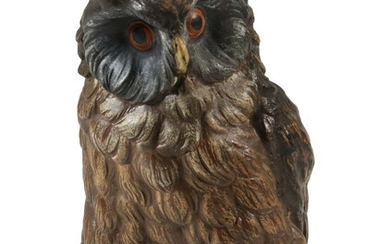 COLD PAINTED BRONZE OWL