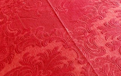 Centenary Bedspread - Transition Style - Pure Cotton Red Bishop's color - pimi 900