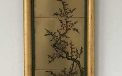 Chinese Cherry Blossom Ceramic Tiles Wall Hanging