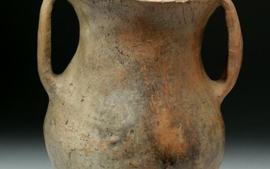 Chinese Neolithic Pottery Twin-Handled Urn