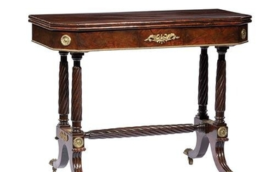 Classical Bronze-Mounted Mahogany Card Table