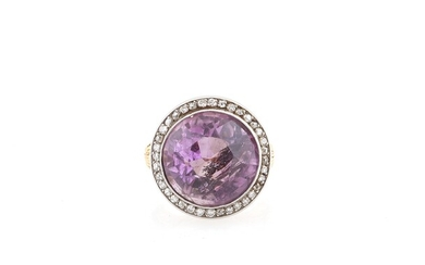 Diamant Amethyst Ring