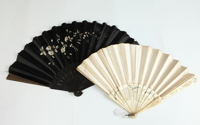 EDWARDIAN/VICTORIAN VINTAGE FANS. Estimate $60-80 Condition commensurate with age