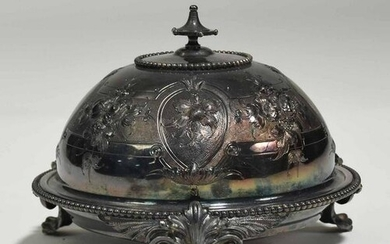 Early English Coin Silver Butter Dish